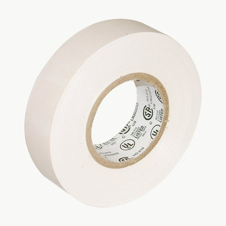 JVCC E-Tape Colored Electrical Tape: 3/4 in. x 66 ft. (White) (Heat Shrink Electrical Tape)