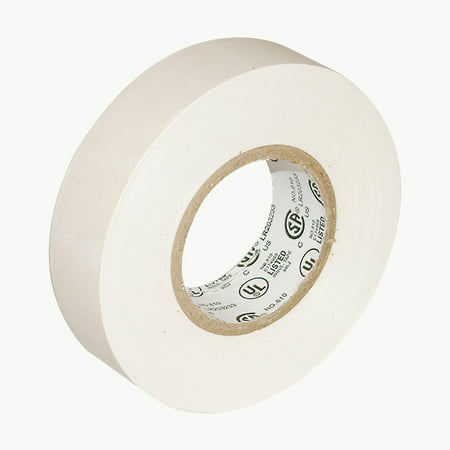 JVCC E-Tape Colored Electrical Tape: 3/4 in. x 66 ft. (White)