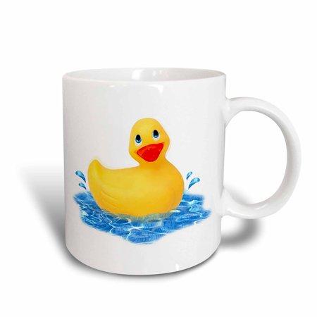 3dRose Rubber Duck, Ceramic Mug, 11-ounce](Ceramic Duck)