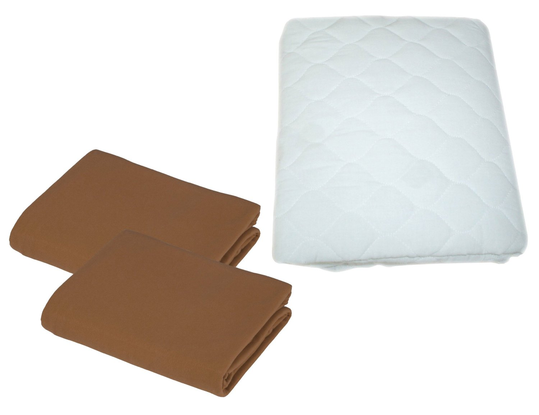 TL Care 100 Percent Cotton Percale Fitted Crib Sheet Aqua