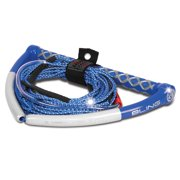 AIRHEAD AHWR-13BL Bling Spectra Wakeboard Rope 75' Blue 5-Section Boat Lake Tow