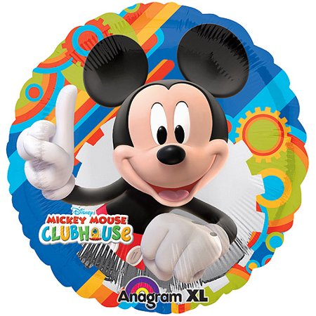 Mickey Mouse Foil Balloon](Mickey Mouse With Balloons)