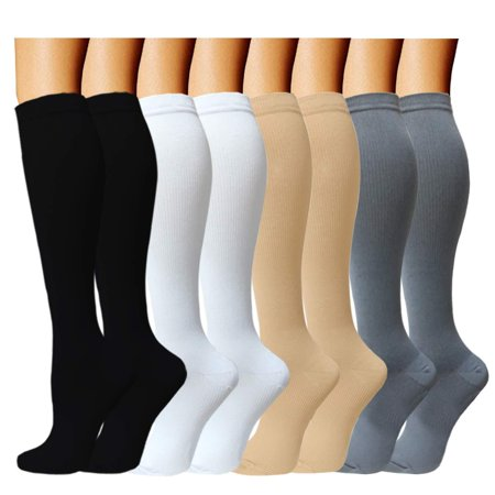 Compression Socks (8 pairs) For Women & Men 15-20mmHg - Best Medical,Running,Nursing,Hiking,Recovery & Flight Socks A - Color 5 S/M (US Women 6 - 10 / US Men 6 - (Best Trail Running Socks)