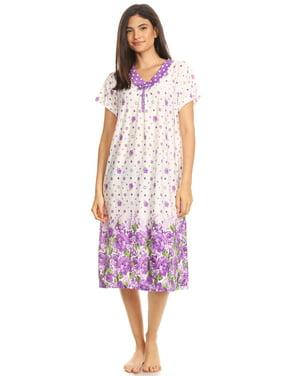 Product Image 811 Womens Nightgown Sleepwear Cotton Pajamas - Woman  Sleeveless Sleep Dress Nightshirt Purple XXL b58a99b6aa
