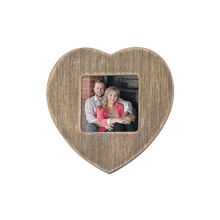 Fun Express - Rustic Heart Photo Frame for Wedding - Home Decor - Gifts - Photo Frames & Photo Albums - Wedding - 12 Pieces](Fun Frames)