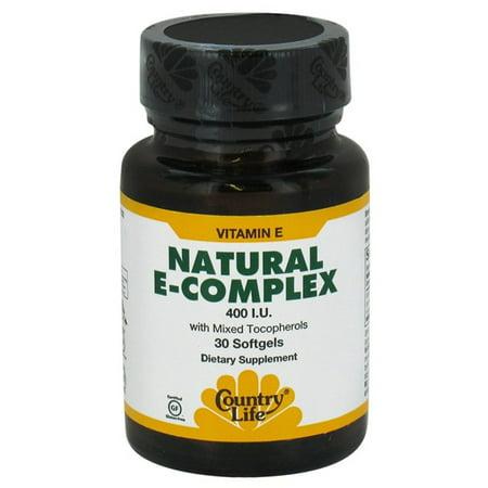 COUNTRY LIFE - Natural Vitamin E Complex 400 I.U. - 90