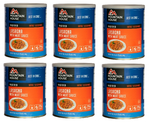 Mountain House Freeze Dried Food Lasagna with Meat Sauce-6 Cans Combos by Mountain House