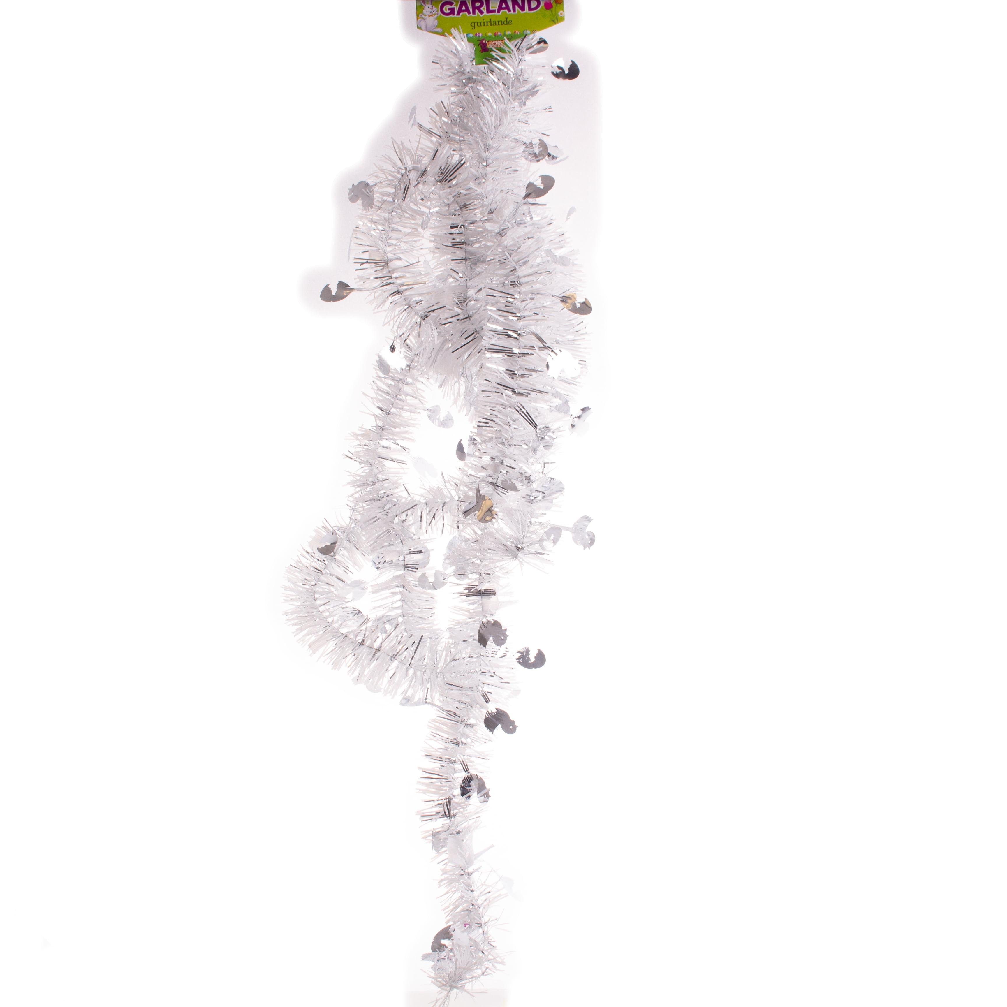 Easter Seasonal Fluffy Iridescent Decorative 9/' Tinsel Garland