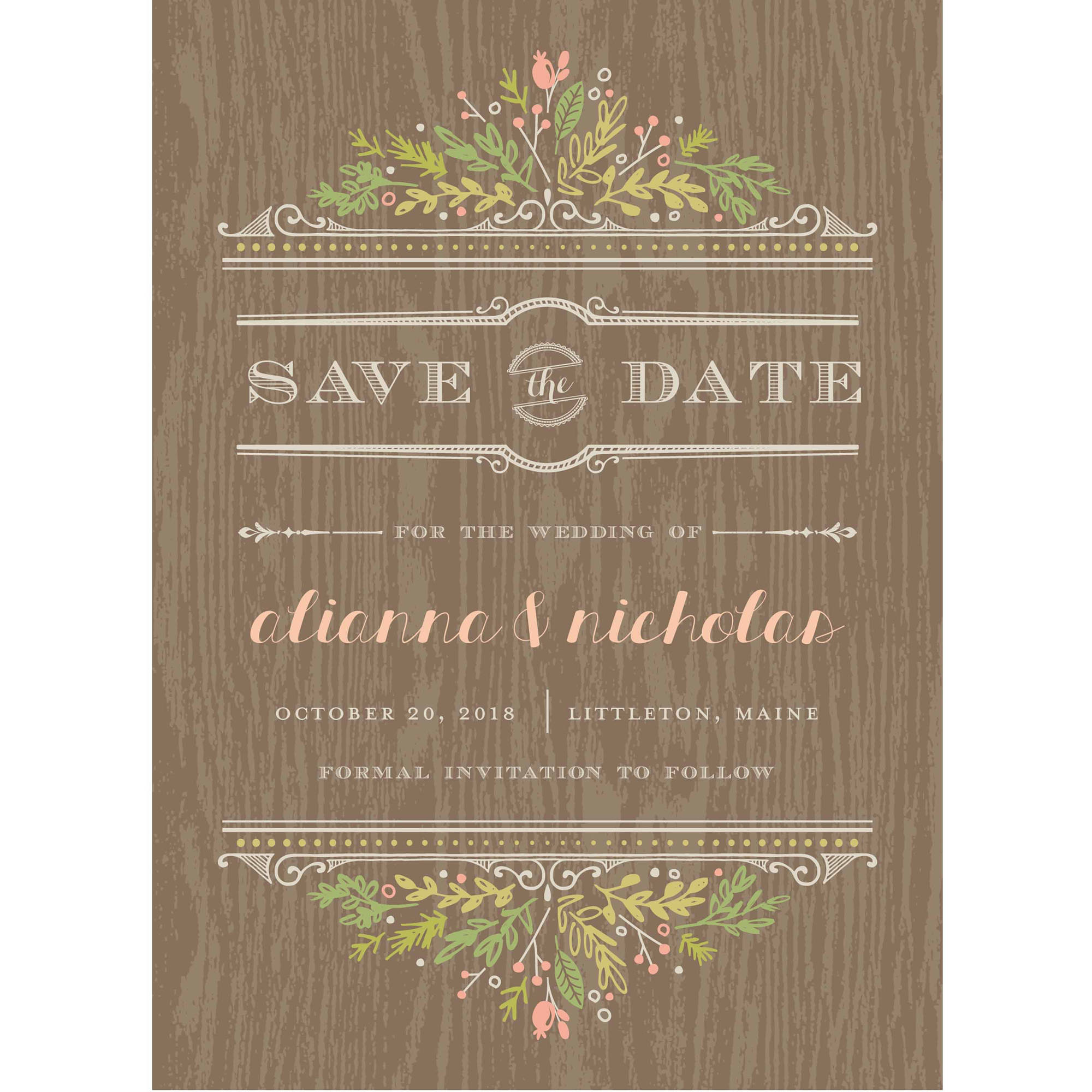 Woodland Wedding Standard Save the Date