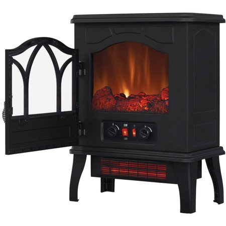 ChimneyFree Electric Infrared Quartz Stove Heater, 5,200 BTU, Black Metal