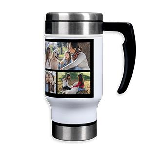Stainless Steel Photo Collage Travel Mug, 14 oz