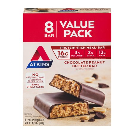Atkins Sauce (Atkins Chocolate Peanut Butter Bar, 2.12oz, 8-pack (Meal Bar))