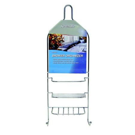 Hanging Shower Organizer Chrome Bath Caddy Bathroom Soap Holder ...