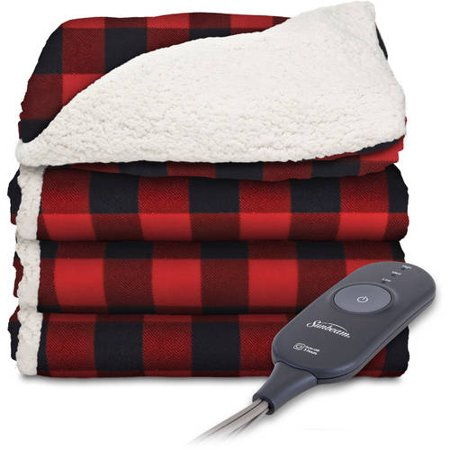 Sunbeam Electric Heated Microplush/Sherpa Throw Blanket