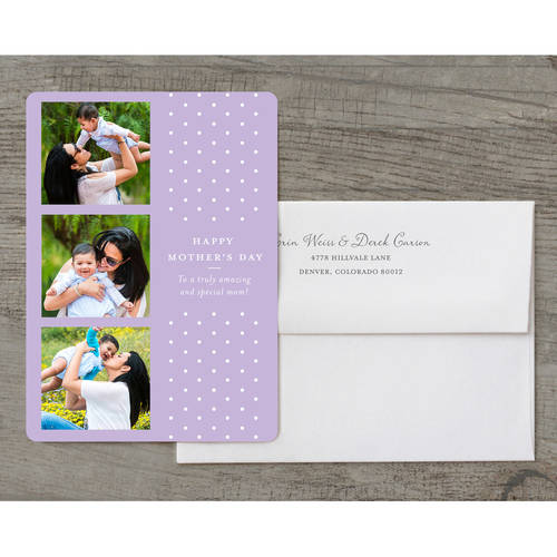 Polka Dots Deluxe Mother's Day Greeting Card