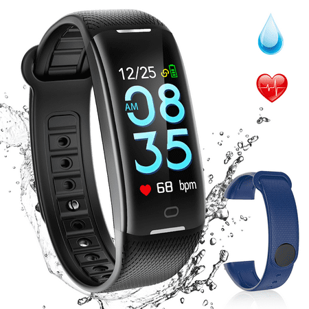 AGPTEK Fitness Tracker  Waterproof Heart Rate Monitor Smart Watch Swimming  Bracelet Health Activity Wristband Pedome (Runners Fitness Tracker)