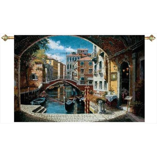 Manual Woodworkers and Weavers HWGAWV Archway To Venice Tapestry Wall Hanging Horizontal 71 X 48 inch