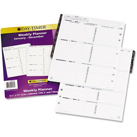 Day-Timer Dated 2-Page-per-Week Organizer Refill, January-December, 8.5