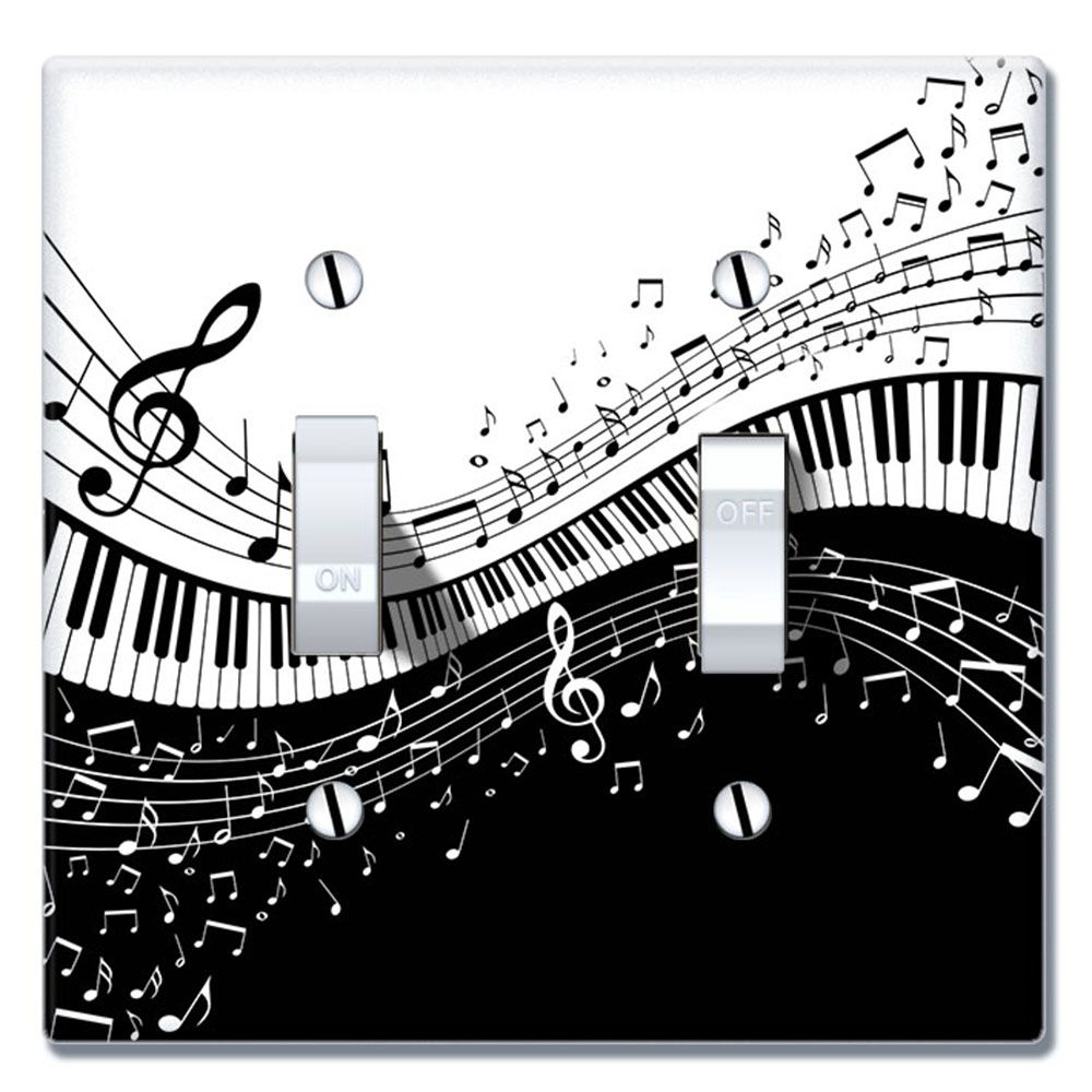Wirester 2 Gang Toggle Wall Plate Switch Plate Cover Music Note Piano Walmart Com Walmart Com