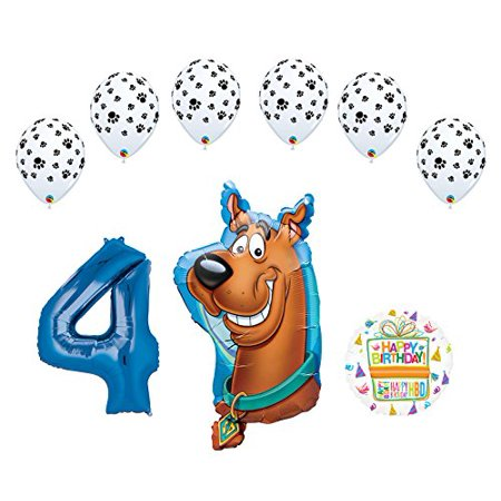 Scooby Doo Birthday Party (Mayflower Products Scooby Doo 4th Birthday Party Supplies Balloon Bouquet)
