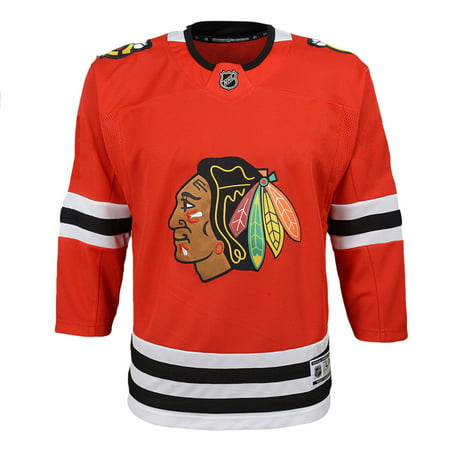 new concept 5dd40 4c3e2 Chicago Blackhawks NHL Premier Youth Replica Home Hockey Jersey - NHL Team  Apparel