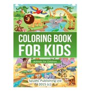 Coloring Book For Kids Animals Children Paperback