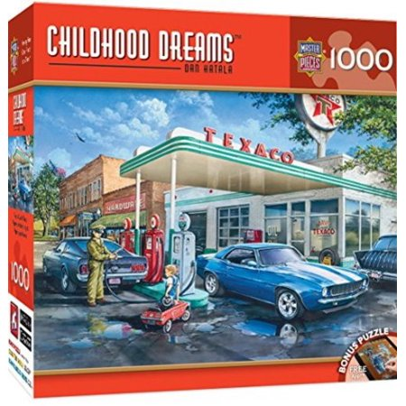 MasterPieces Childhood Dreams Pops Quick Stop - Getting Gas 1000 Piece Jigsaw Puzzle by Dan Hatala