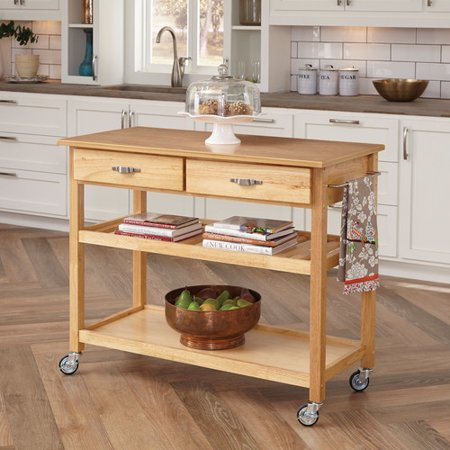 Home Styles Kitchen Island with Wood Top - Walmart.com