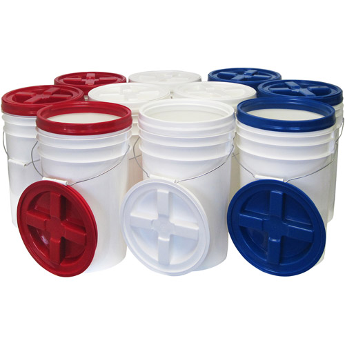 Augason Farms Storage Pail Kit with Gamma Seal Lids - 10 Count