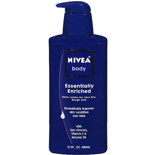 Nivea Body Daily Lotion Essentially Enriched for Very Dry, Rough Skin, 13.5 fl oz