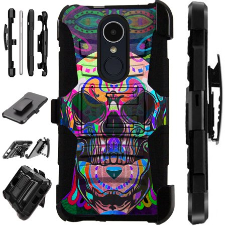 LuxGuard Phone Case Cover For LG Stylo 4 | Stylo 4 Plus | Q Stylus Q Plus Q Alpha (Skull Tattoo)