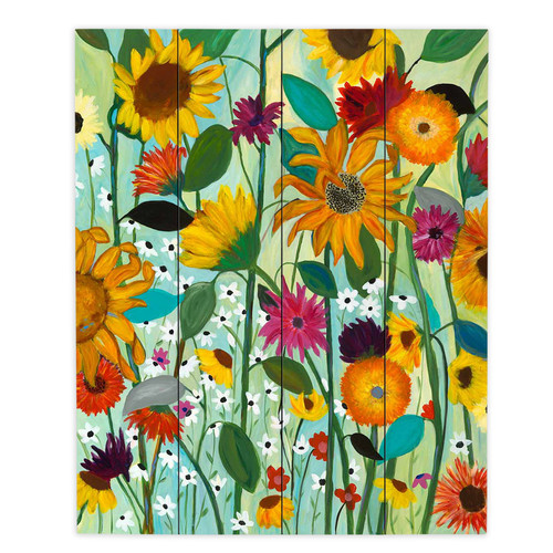 DiaNoche Designs Sunflower House by Carrie Schmitt Painting Print Plaque