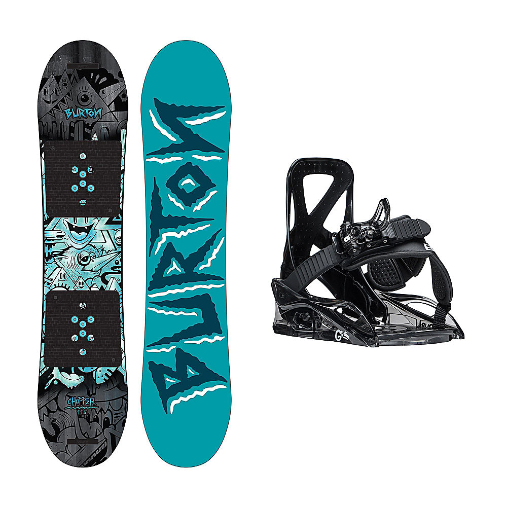 Burton Chopper Grom 2 Kids Snowboard and Binding Package