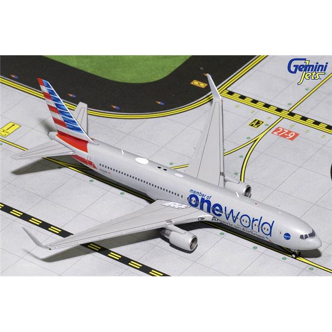 Gemini Jets GJ1680 American Airlines 767-300ER One World Livery Diecast Model Plane, N343AN