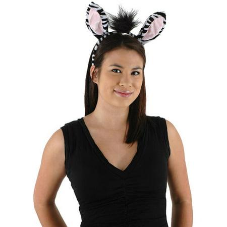 Zebra Adult Halloween Accessory Kit - Zebra Halloween Makeup