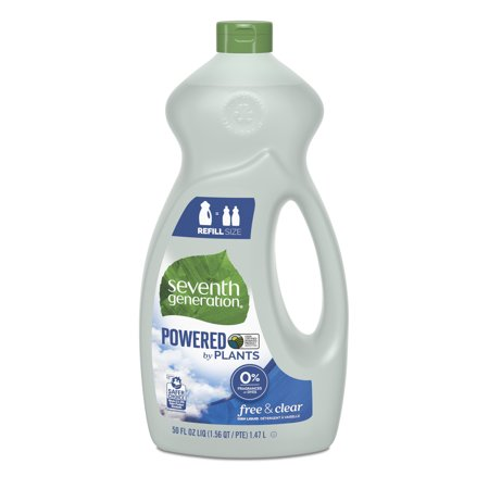 Seventh Generation Free & Clear Dish Liquid Soap Fragrance Free 50