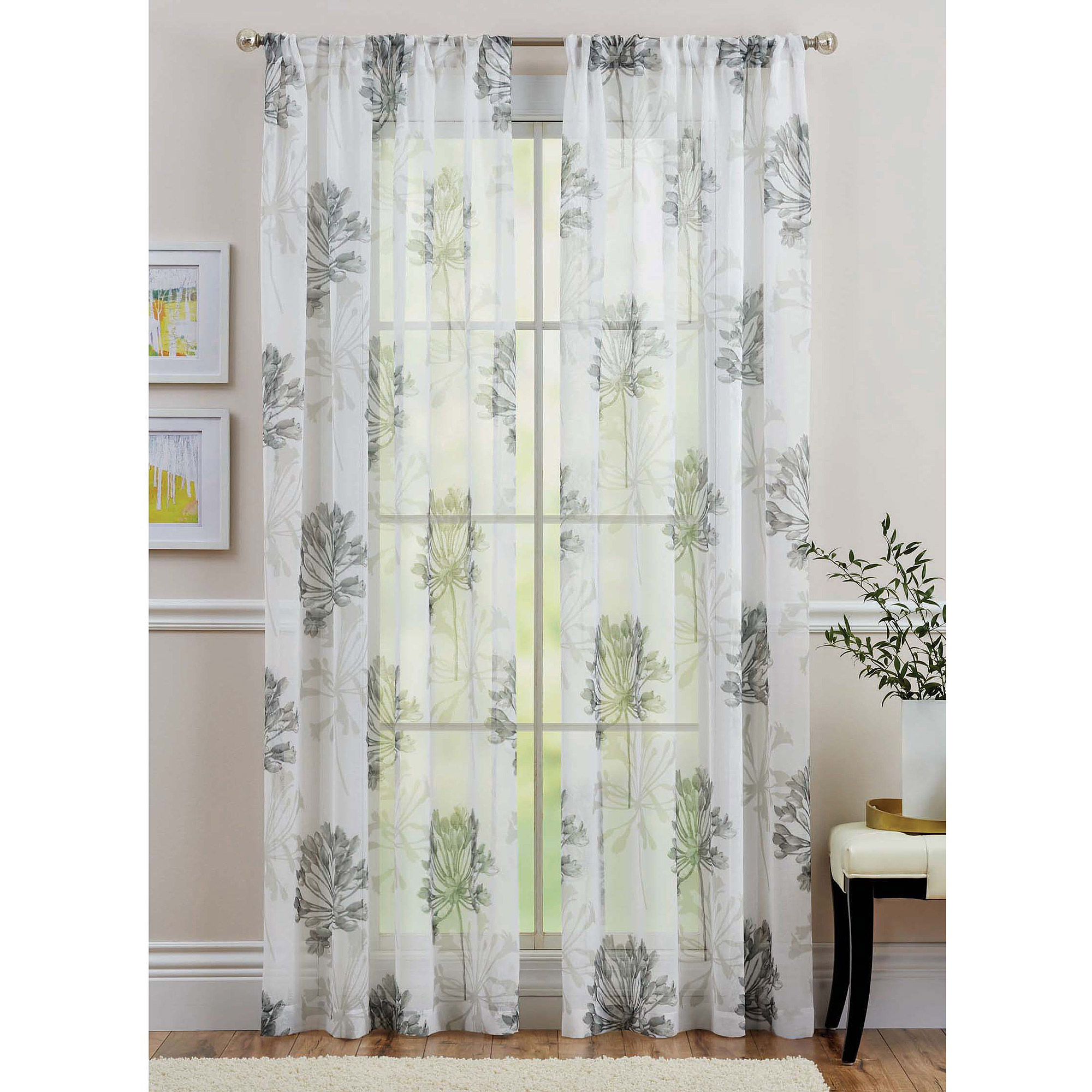 Better Homes and Gardens Dandelion Bloom Sheer Window Panel