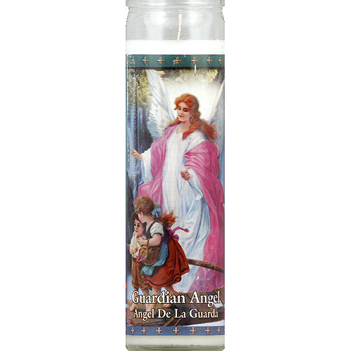St. Jude Candle Company Guardian Angel White Candle, 8.1 oz, (Pack of 12)