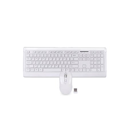 106 Key 2.4Ghz Wireless Multimedia Keyboard & Optical Mouse Set - White ()