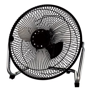 "Mainstays 9"" High Velocity 3-Speed Fan, Model #MF-9, Black"