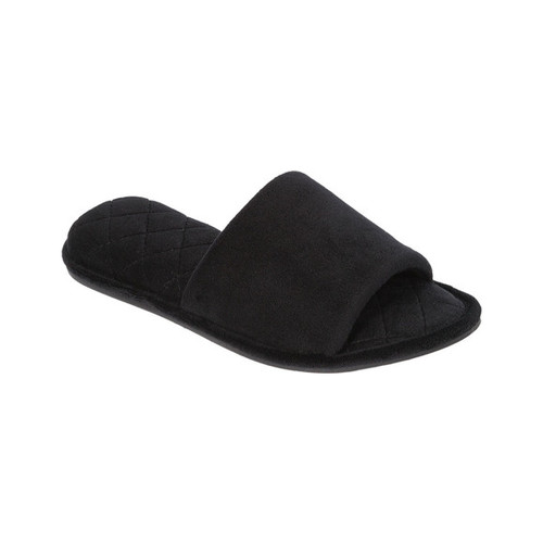 Women's Dearfoams Microfiber ... Velour Slide Slippers