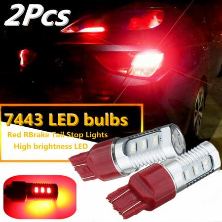 2X Flashing Strobe Blinking 7443 Red Rear Alert Safety Brake Tail Stop Lights - image 9 of 9