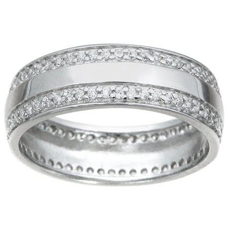 LaRaso Co Sterling Silver Wedding Band for Men and Women