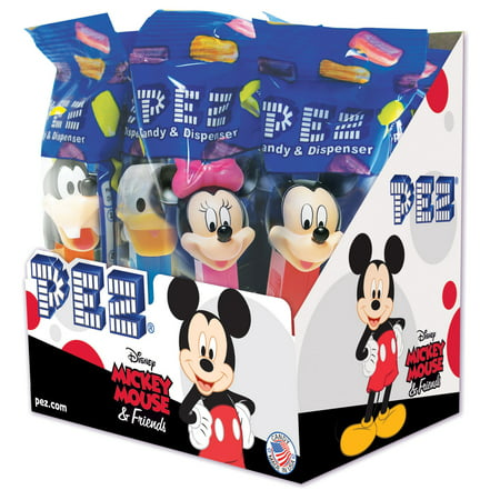 Batman Pez (PEZ Candy Disney Mickey & Friends Assortment, candy dispenser plus 2 rolls of assorted fruit candy, box of)