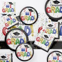 #1 Grad Deluxe Party Supplies Kit for 18 Guests