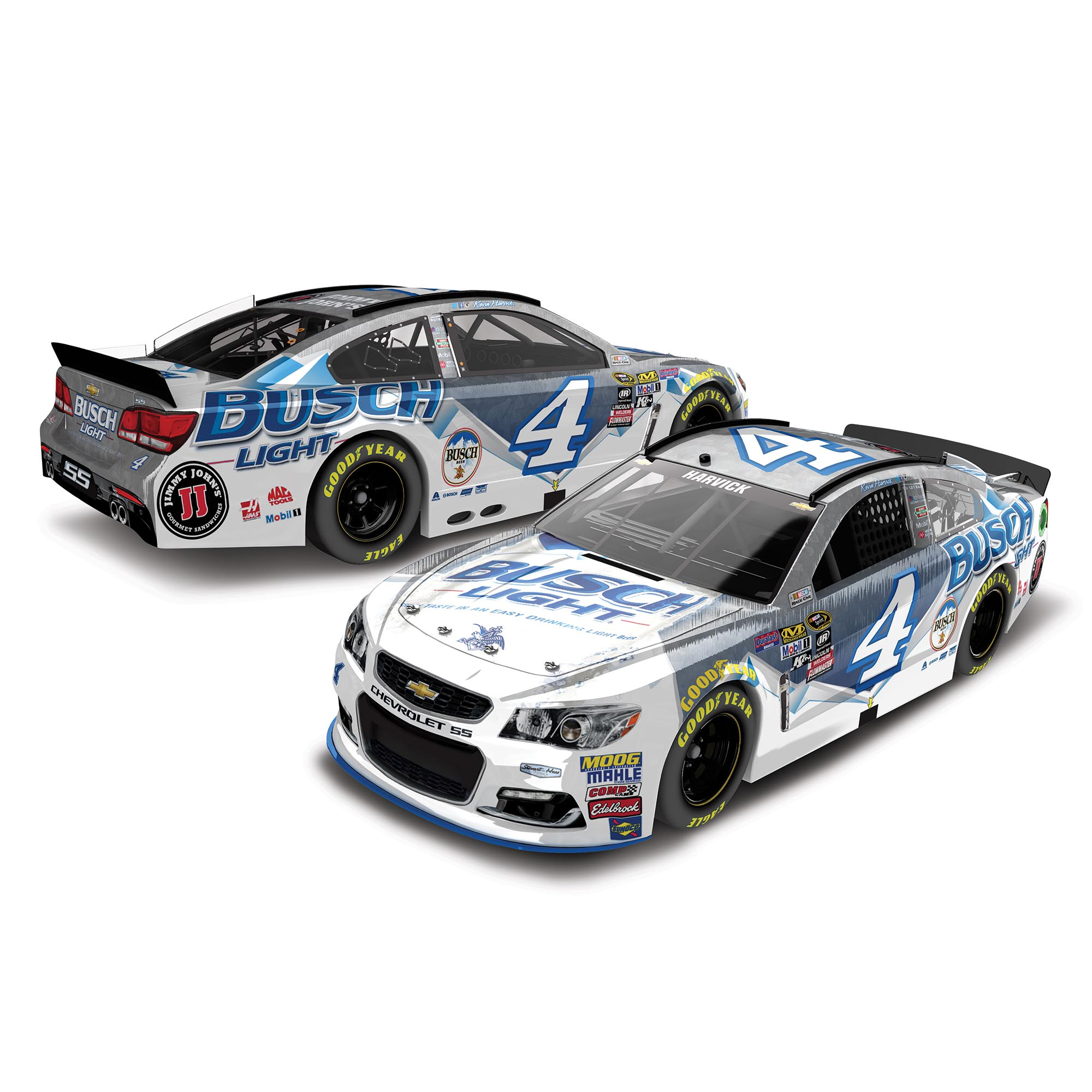 Action Racing Kevin Harvick 2016 #4 Busch Light 1:24 Nascar Sprint Cup Series Raw Die-Cast... by Lionel LLC