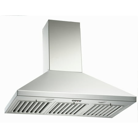 KOBE CHX8136SQB-1 Brillia 36-inch Wall Mount Range Hood, 3-Speed, 750 CFM, Fits Ceiling Height 7.5