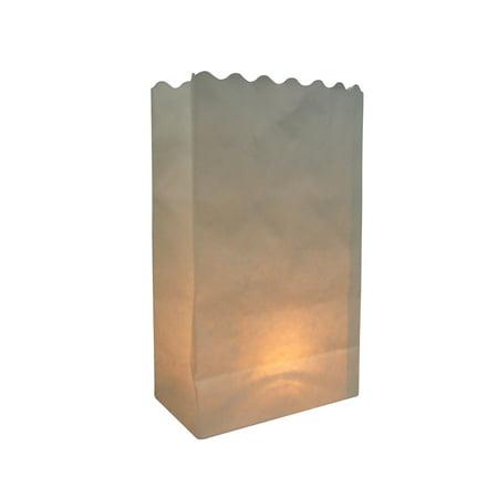 Quasimoon White Paper Luminaries / Luminary Lantern Bags Path Lighting (10 PACK) by - Paper Luminaries