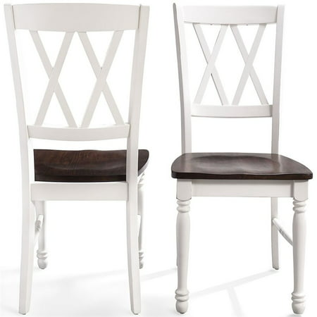 Shelby Dining Chair in White Finish (set of two) Hudson Chair Finish