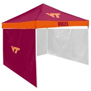 Virginia Tech Hokies NCAA 9 x 9 Economy 2 Logo Pop-Up Canopy Tailgate Tent With Side Wall